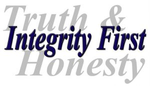 Quote - Truth & honesty with Integrity layed over it
